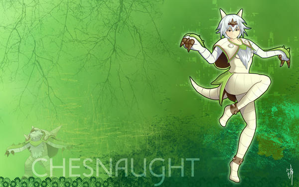 Chesnaught Gijinka Wallpaper by Yuupewpew