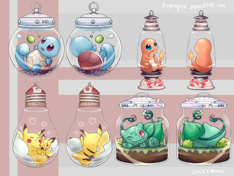 Pokemon Keychains by Yuupewpew