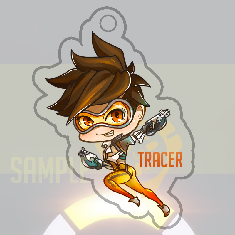 Overwatch Tracer Keychain by Yuupewpew