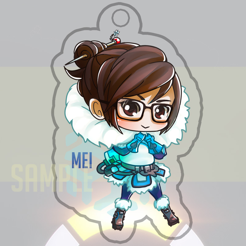 Overwatch Mei Keychain by Yuupewpew