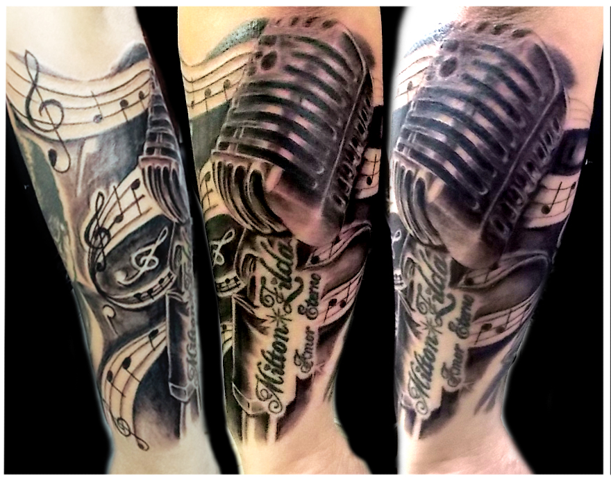 Microphone Tattoo Grey Pictures To Pin On Pinterest Tattooskid