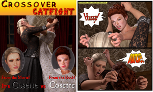 Crossover Catfight/Cosette's Dream by 3dLux