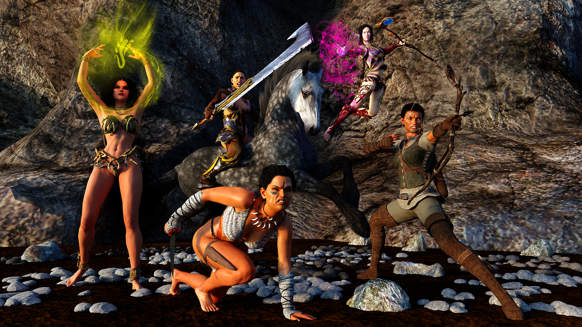 Raiding Party by LuxCompagno