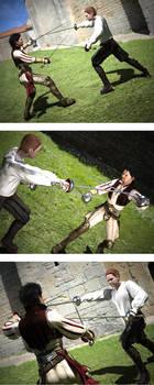 Mercutio vs Tybalt lighting and material test