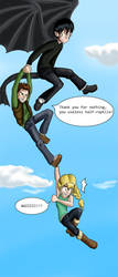 Hiccup and Astrid take a spin by Starwarrior4ever