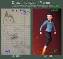 Astro Boy Before/After by Starwarrior4ever