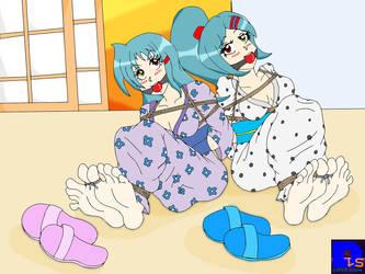 Reika and Kurumi by DLShowtime