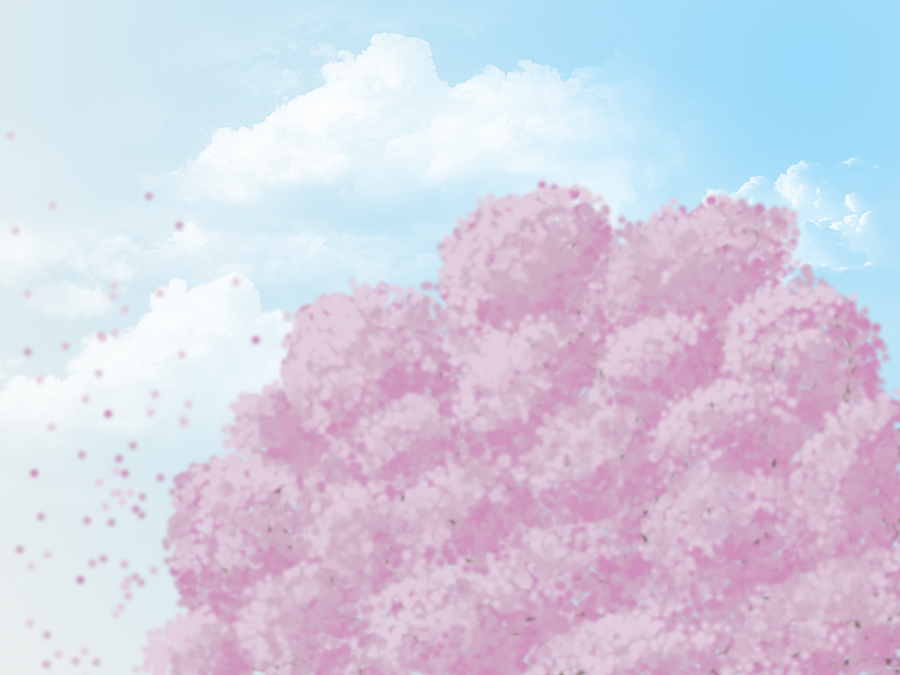 Floating Sakura by RiceyRain