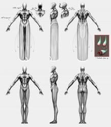 Szork Character Orthograhic by 3yen