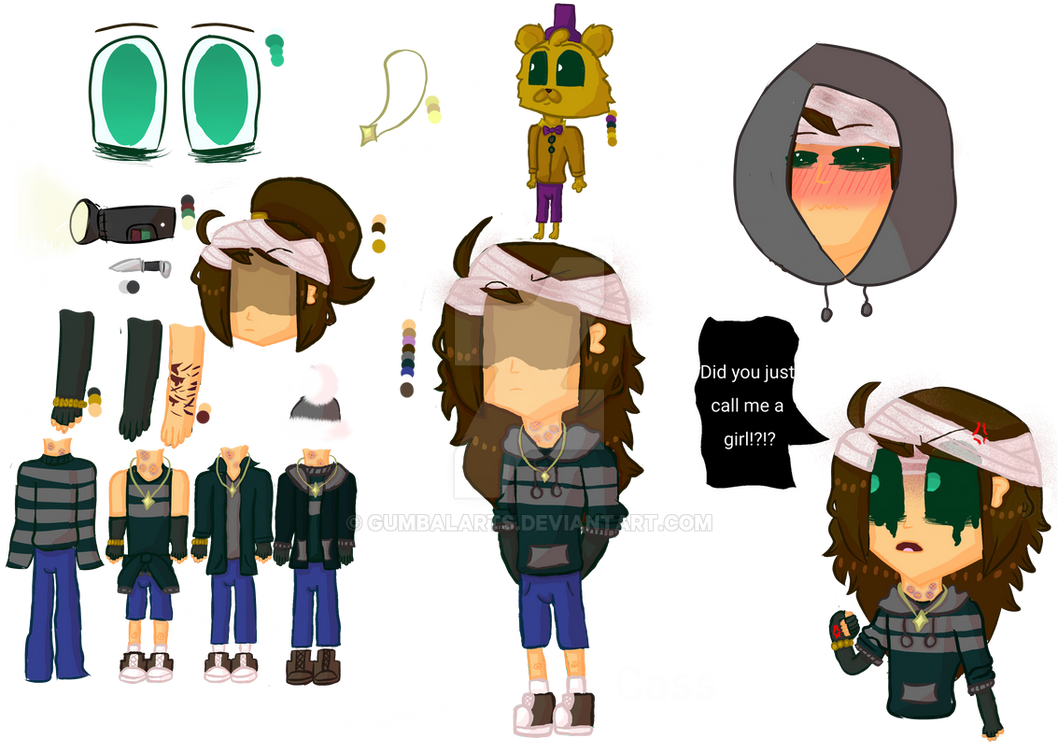 Cass/FNAF4 CryingChild ref sheet by Gumbalarts on DeviantArt
