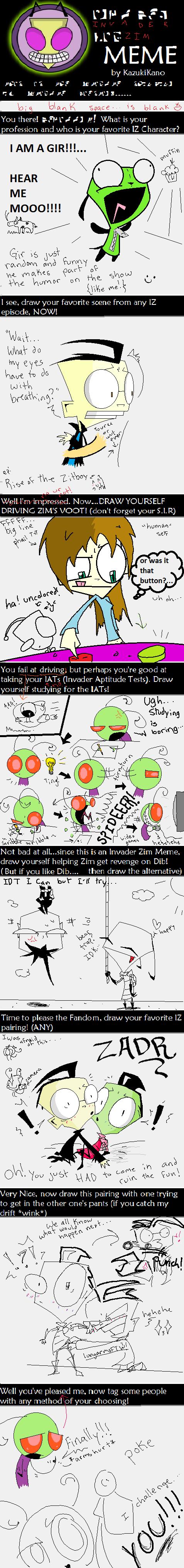 Invader Zim Meme By Yoyoballkay