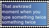Say stuff twice stamp by yoyoballkay
