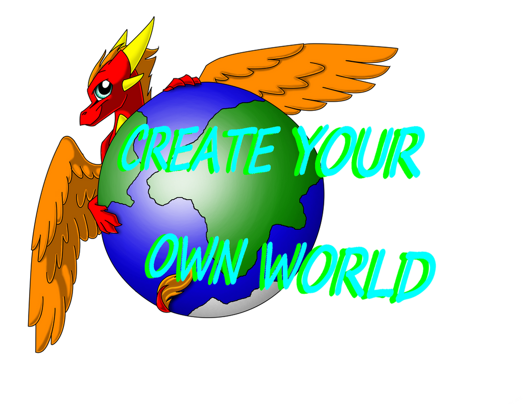 Create your own world logo read description by - Create your world ...