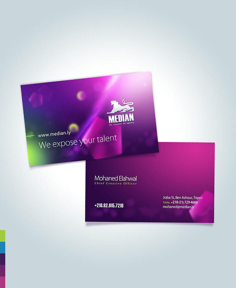 Median Business Card by mythstu