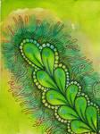 Watercolor Tangle #1