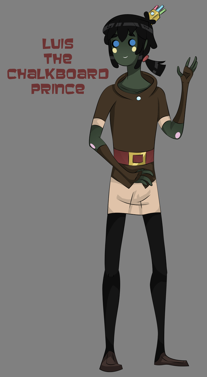 New Oc: Luis the Chalkboard Prince by XombieJunky