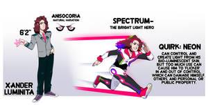 BNHA OC- Xander AKA Spectrum by XombieJunky