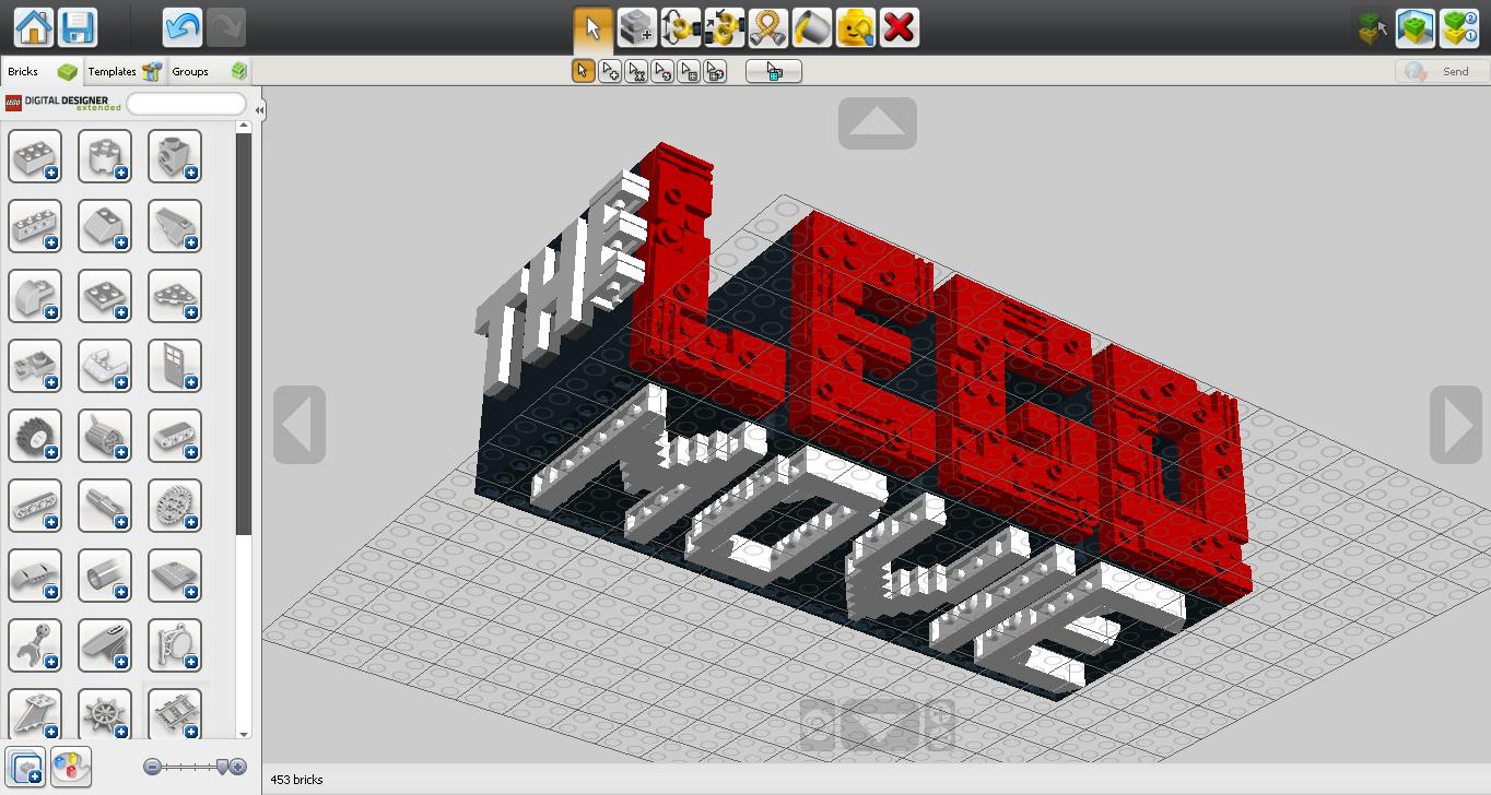 The Lego Movie Logo Moc On Ldd By C E Studio On Deviantart