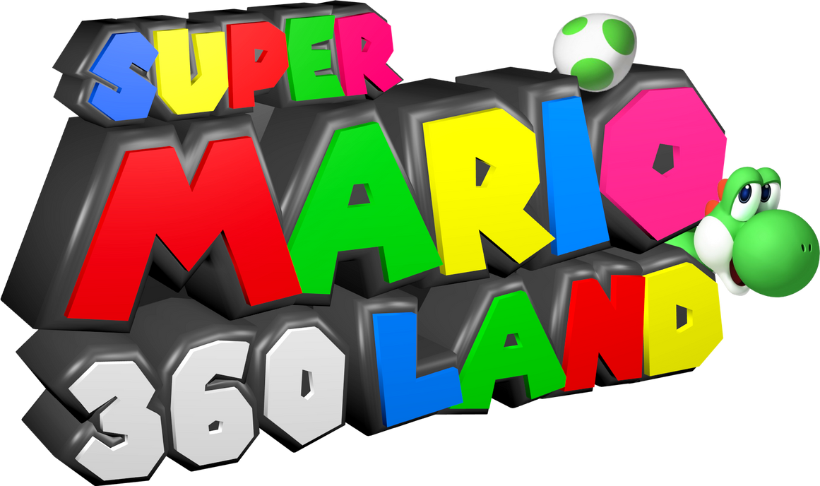 custom 39 39 super mario 360 land 39 39 logo design by c e studio on deviantart. Black Bedroom Furniture Sets. Home Design Ideas