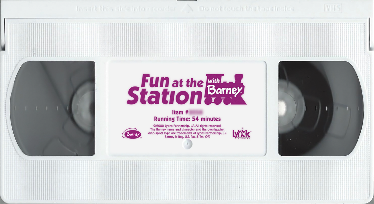 custom fun at the station with barney vhs tape by ce