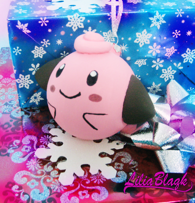 Cleffa Christmas Ornament by LiliaBlaqk