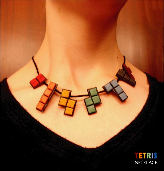 TETRIS Necklace by tetris-gollum