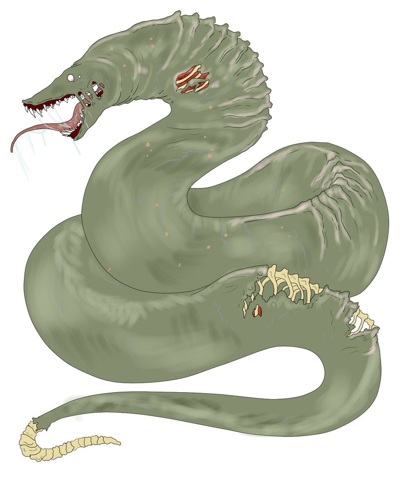 Memories, Bestiary Egg_hatched___zombie_monster_snake_by_shadowinkbases-d6ia829