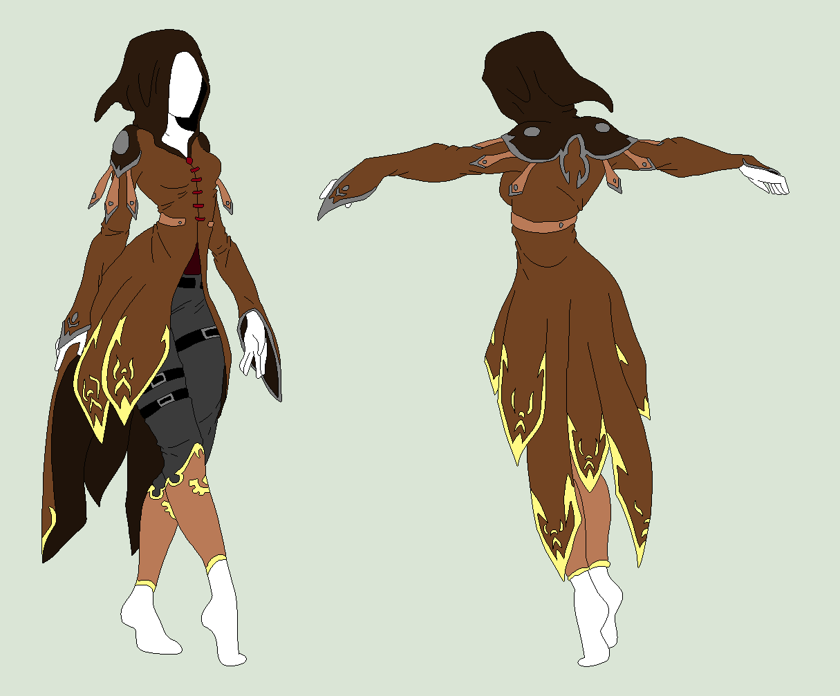 Custom Outfit - The Bird Assasin by ShadowInkAdopts