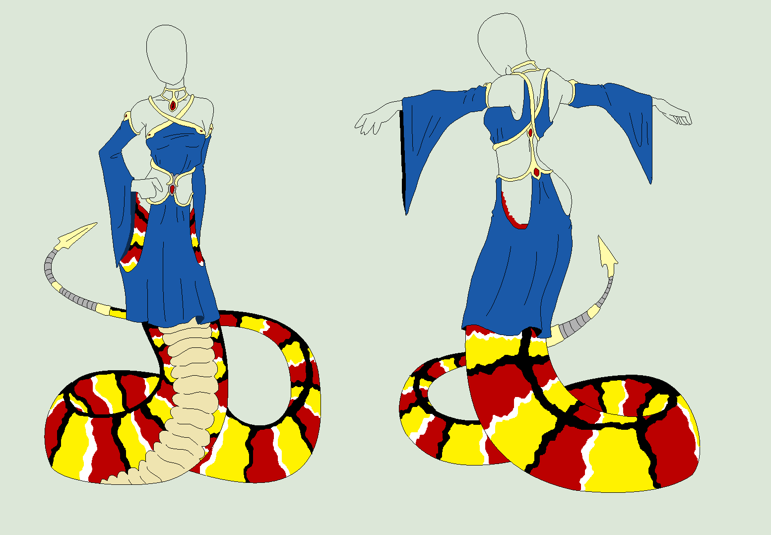 Outfit Adopt - The Snake Lady - SOLD by ShadowInkAdopts