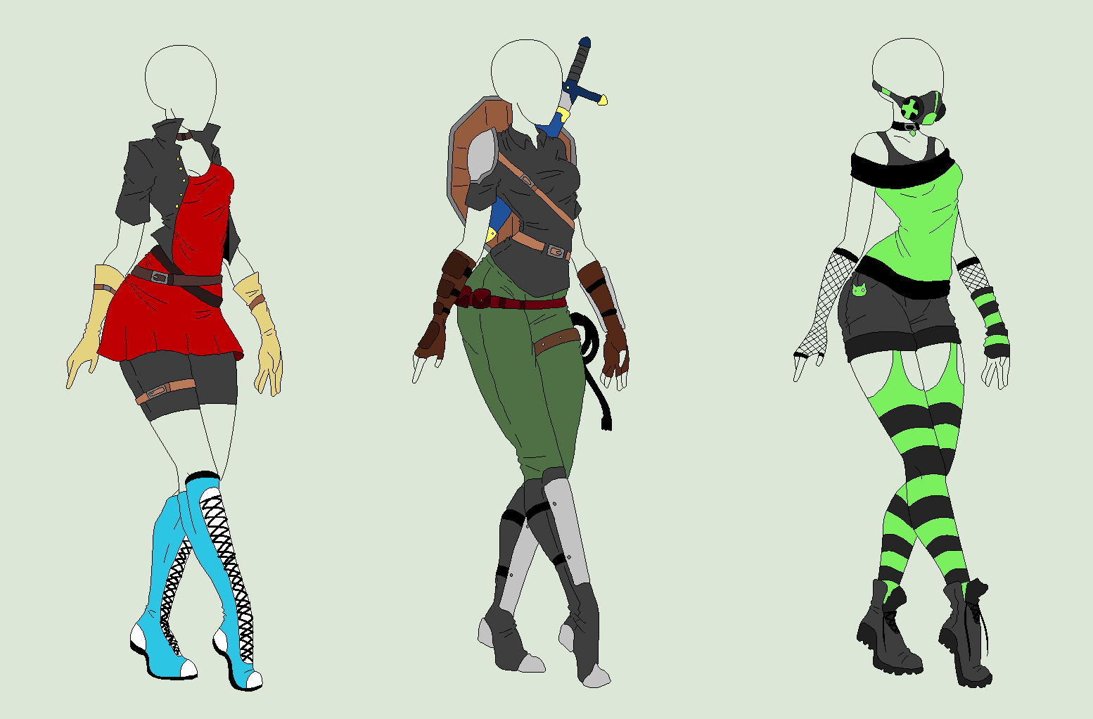 Outfit Adopts 3 Pack - SOLD by ShadowInkAdopts