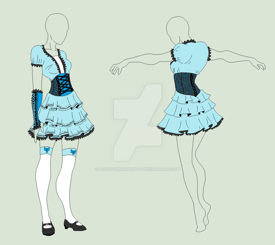 Outfit Adopt - Blue Alice - SOLD by ShadowInkAdopts