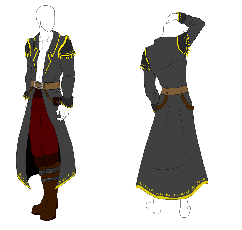Outfit Adopt - Pirate Captain Coat - SOLD by ShadowInkAdopts