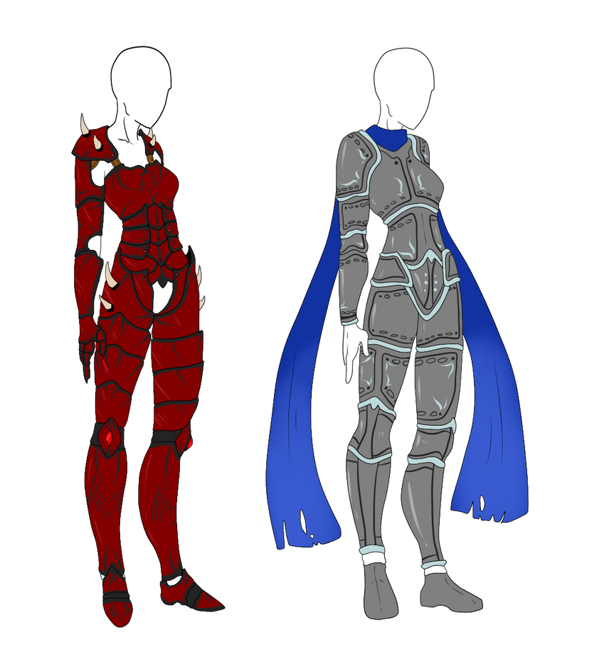 Armor Adopts - Heavy Armor Females - SOLD by ShadowInkAdopts