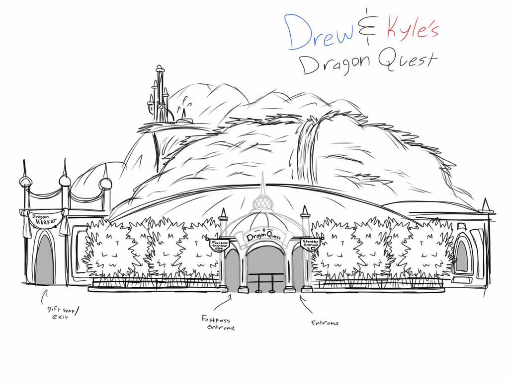 9e90e3211e Ride Concept  Drew and Kyle s Dragon Quest by KyleStudios on DeviantArt