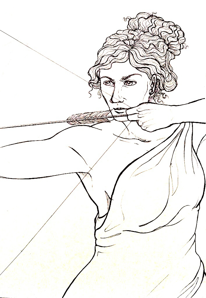Artemis Drawing her Bow by Umbr3 - 516.0KB
