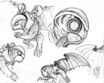 Bioshock Infinite - Songbird Sketches