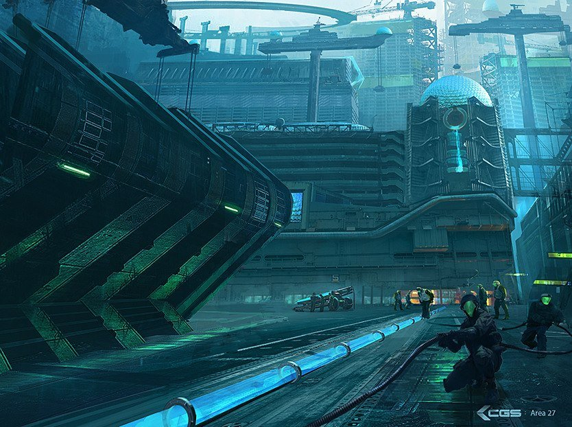 sci fi city by jungpark