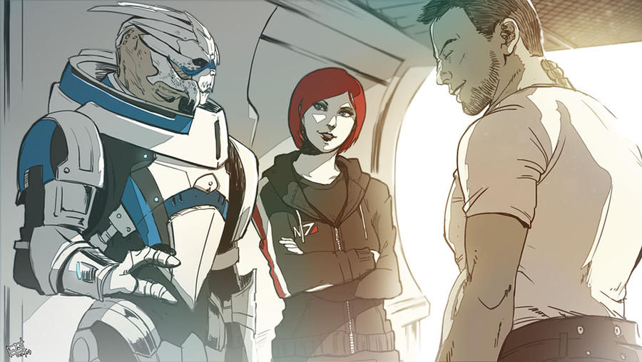Garrus VS James VS Shepard by Wei723