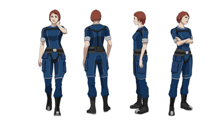 ME1:Commander Shepard (Crewman's outfit) by Wei723