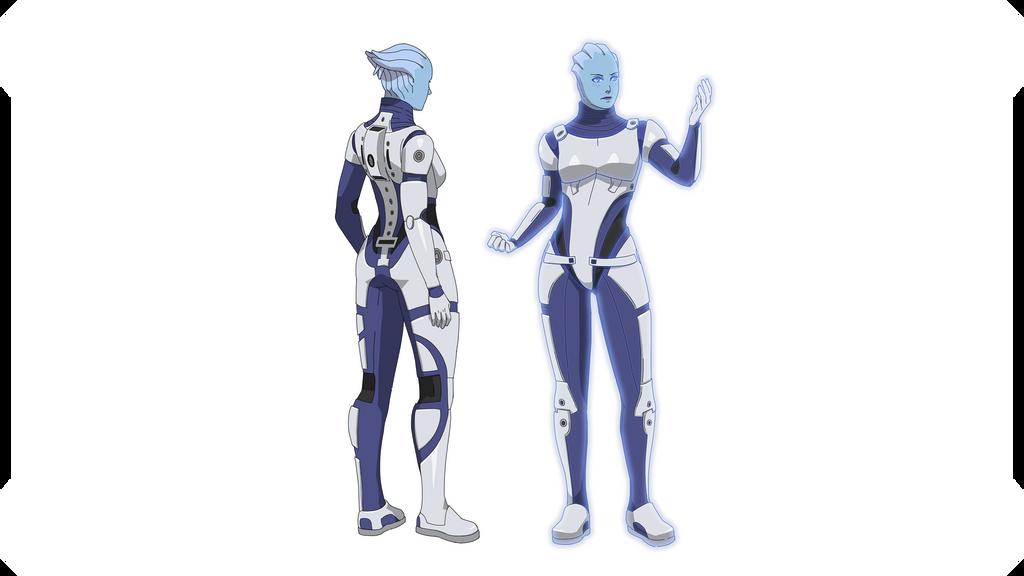 ME1:Liara T'Soni (Light Explorer Armor) by Wei723