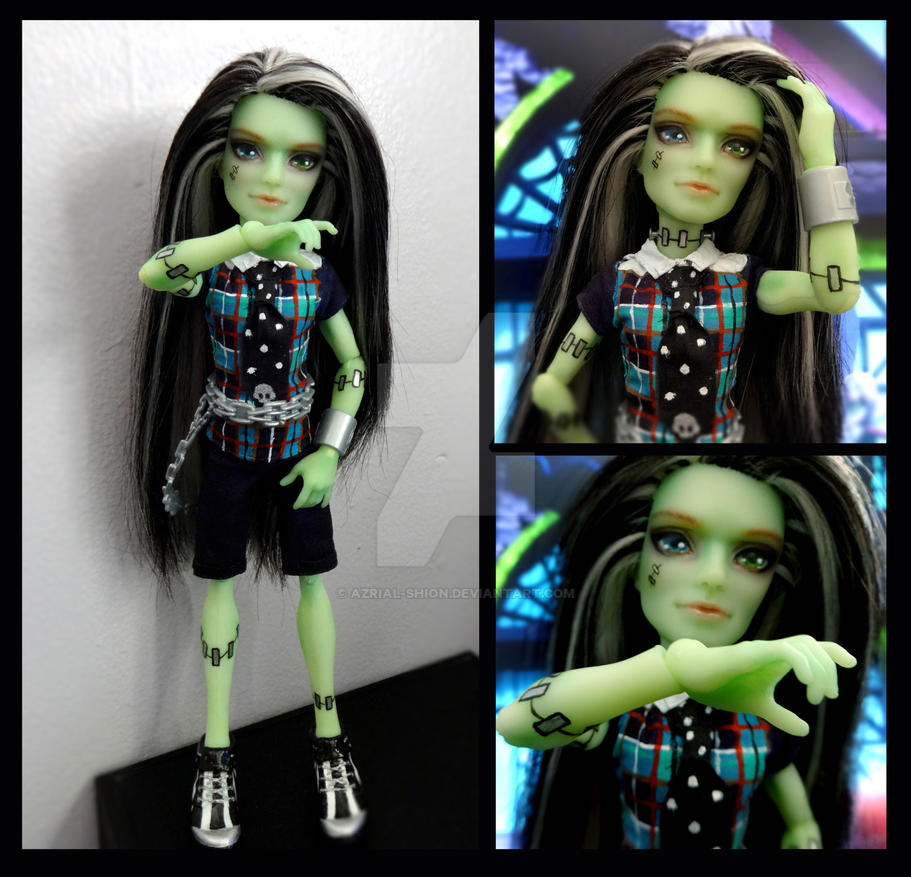 Monster High-Gender Bent Frankie Stein OOAK Custom by Azrial-shion