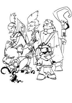 Wakfu cast as 40k characters