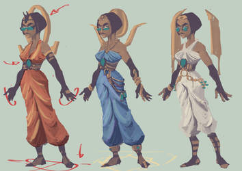 Egyptian mages by 40-Kun