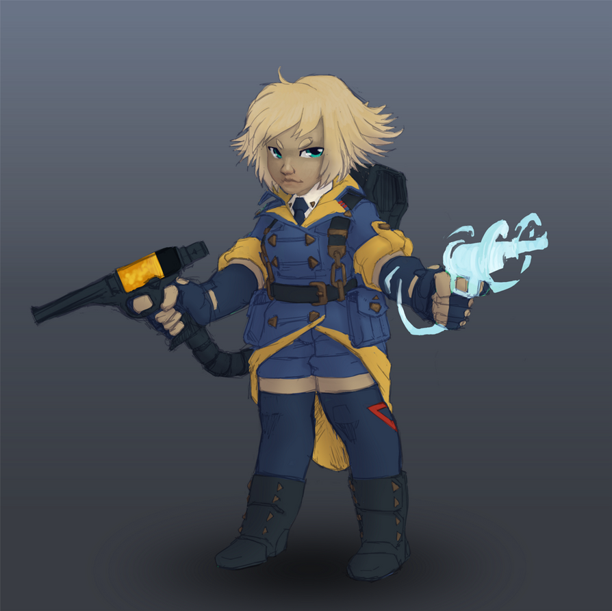 Pewpew platformer main character by 40-Kun