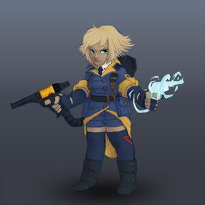 Pewpew platformer main character