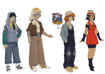VN character design by 40-Kun
