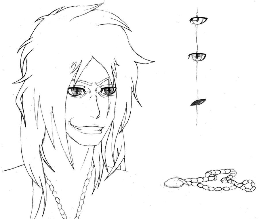 Waking the demon - Sketch by blackberri
