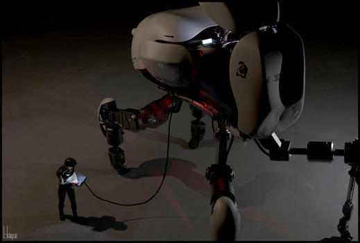 Quadruped mech team getting ready for action 1