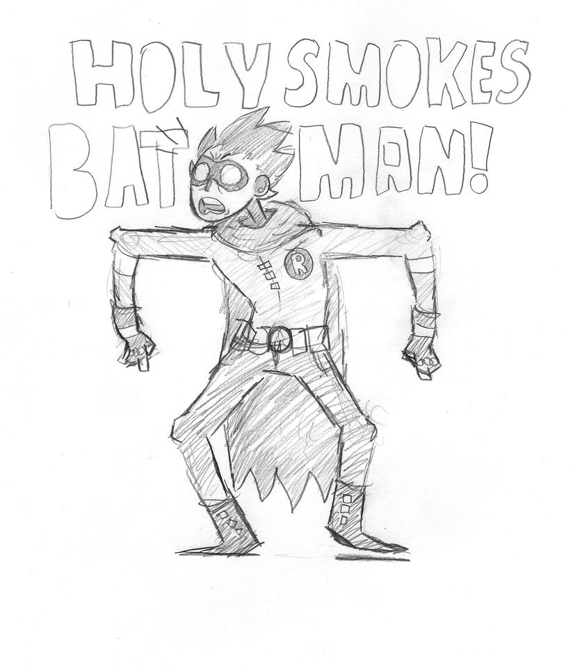 batman smokes holy by CptShenanigans