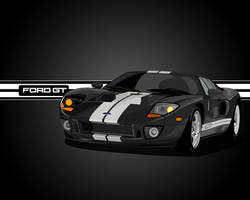 Ford GT Vector Black by V3ct0r